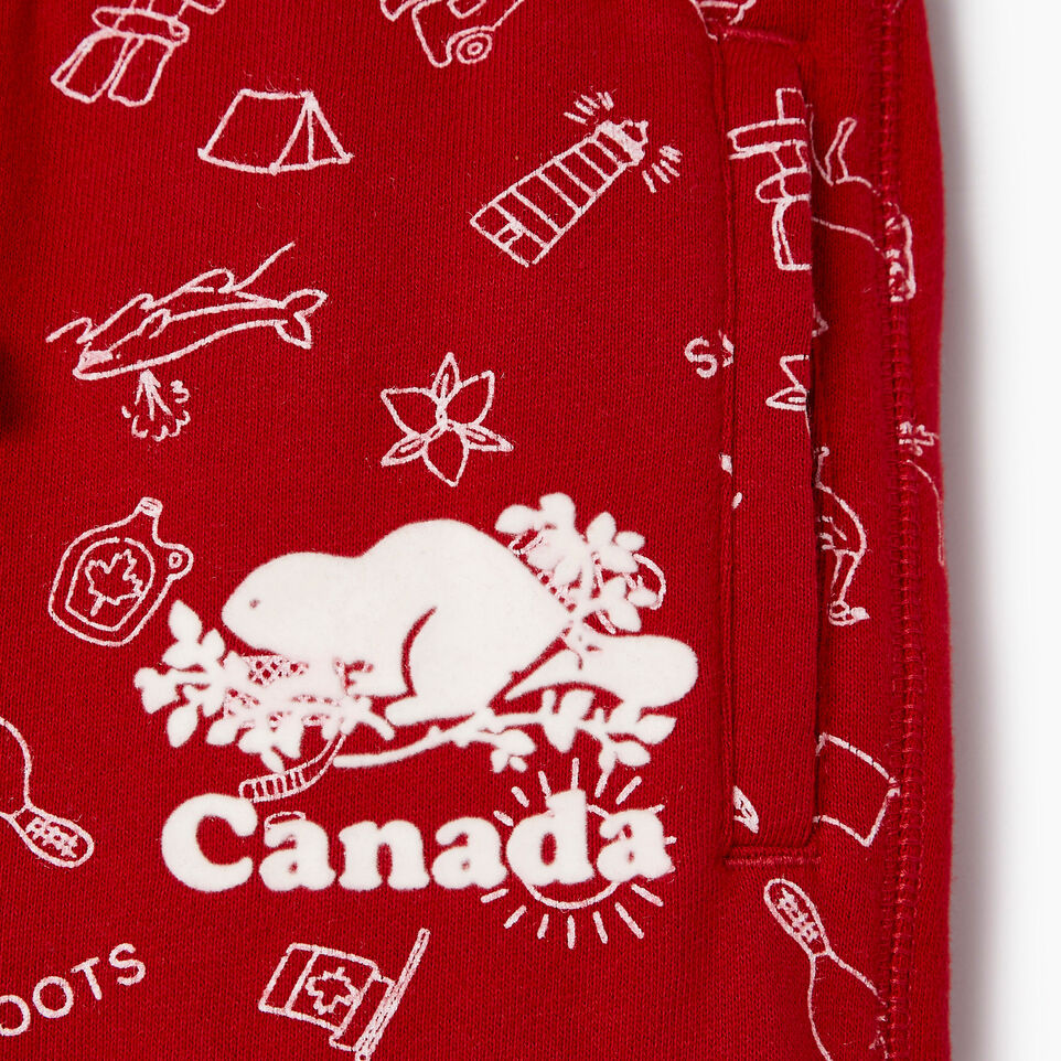 Roots-Kids Our Favourite New Arrivals-Girls Canada Roots Aop Short-Sage Red-D