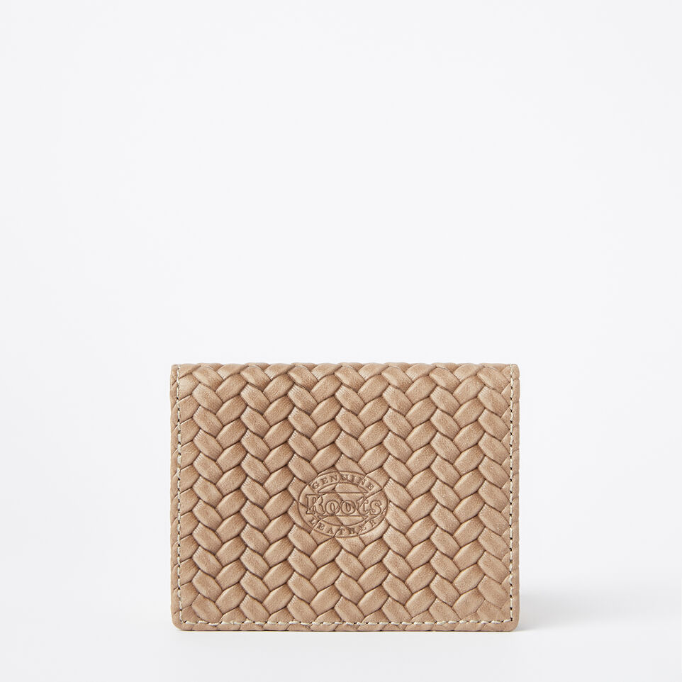 Roots-undefined-Small Fold Over Wallet Woven-undefined-C