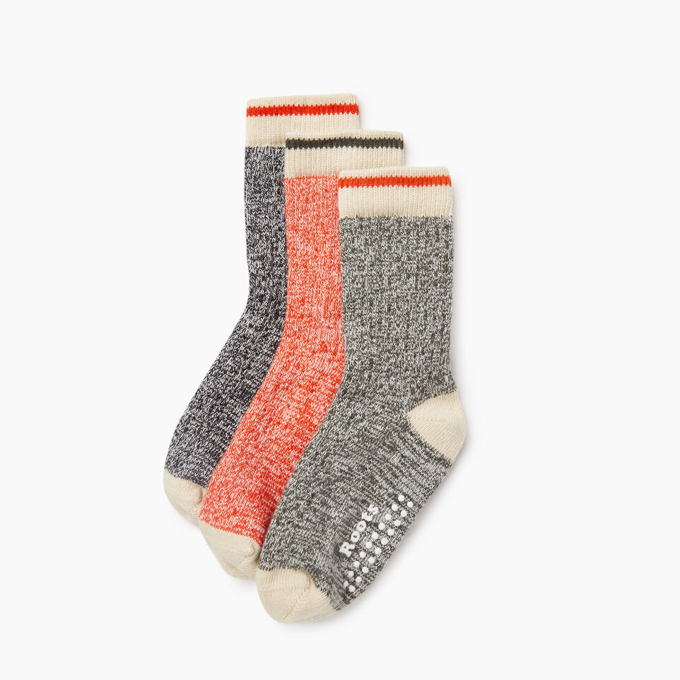 Roots-Kids New Arrivals-Toddler Cabin Sock 3 Pack-Loden-B
