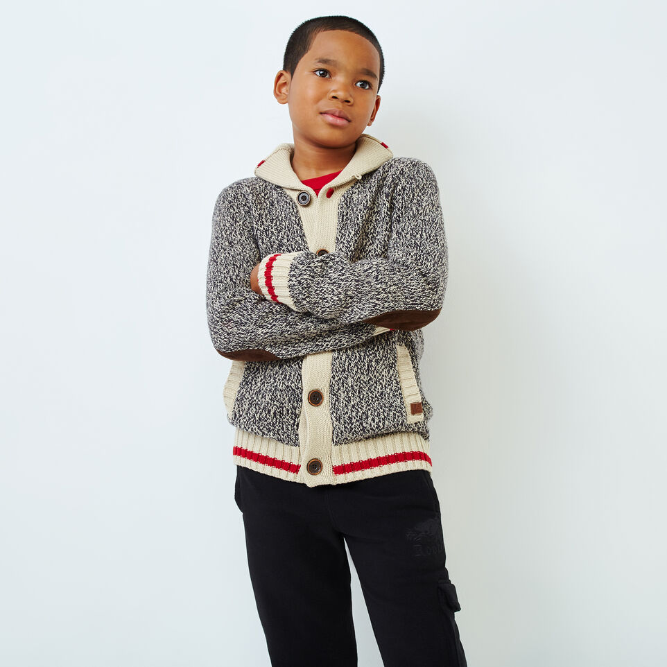 Roots-Kids Boys-Boys Roots Cabin Shawl Cardigan-Grey Oat Mix-A