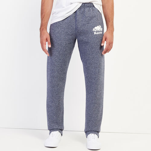 Roots-Men Bottoms-Roots Salt and Pepper Heritage Sweatpant-Navy Blazer Pepper-A