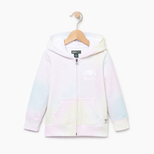 Roots-Kids Toddler Girls-Toddler Watercolour Full Zip Hoody-Ivory-A