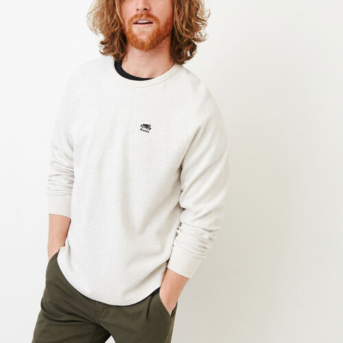 Roots-Men Categories-Sun Peaks Thermal Longsleeve Top-White Grey Mix-A