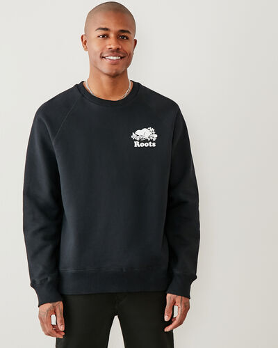 Roots-Men Sweatshirts & Hoodies-Original Crew Sweatshirt-Black-A