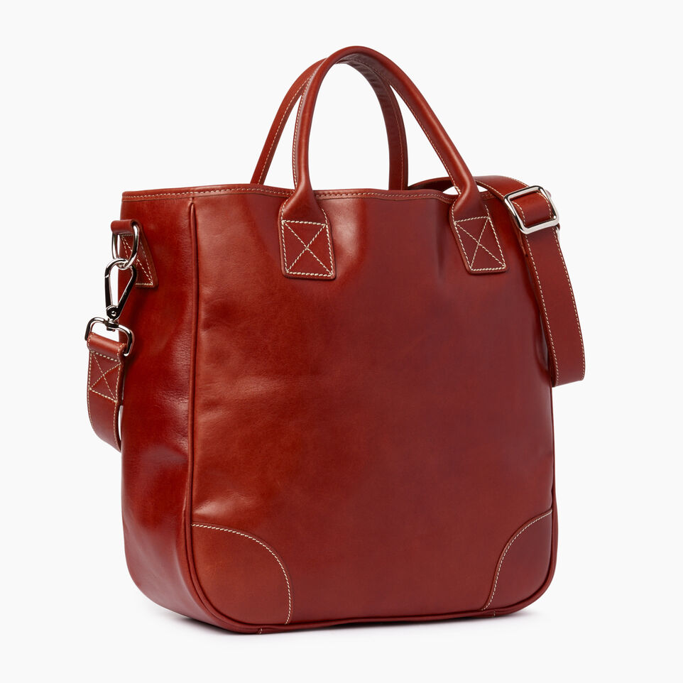 Roots-Leather  Handcrafted By Us Our Favourite New Arrivals-Jasper Tote Horween-Cognac-A