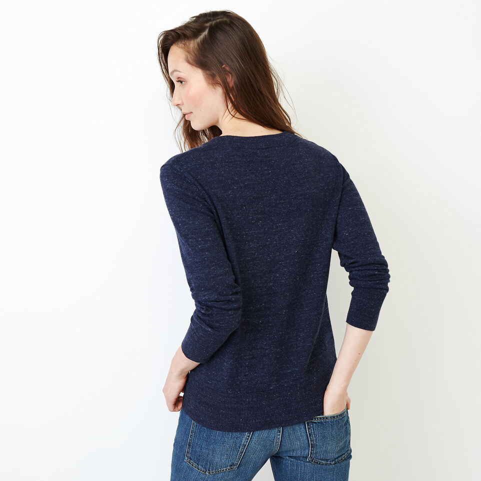 Roots-Women Our Favourite New Arrivals-All Seasons Crew Sweater-Navy Blazer Mix-D