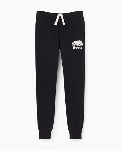 Roots-Sweats Girls-Girls Slim Cuff Sweatpant-Black-A