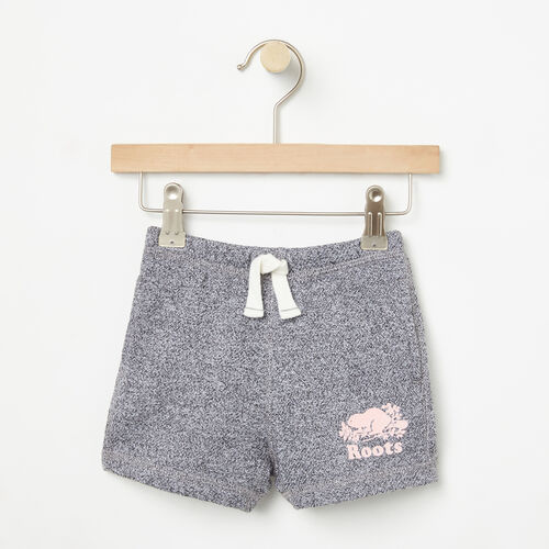 Roots-Kids Bottoms-Baby Original Athletic Short-Salt & Pepper-A