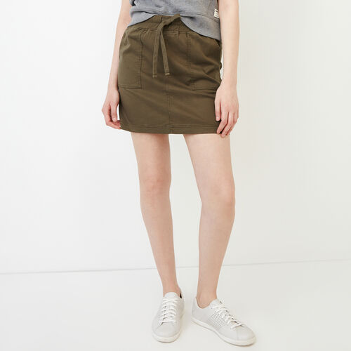 Roots-Women Categories-Essential Skirt-Fatigue-A
