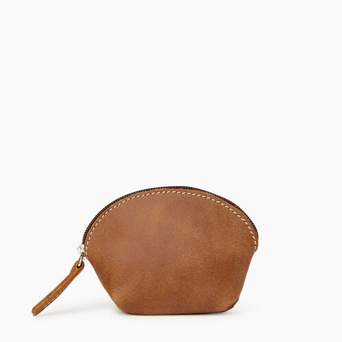 Roots-Leather Our Favourite New Arrivals-Small Euro Pouch-Natural-A