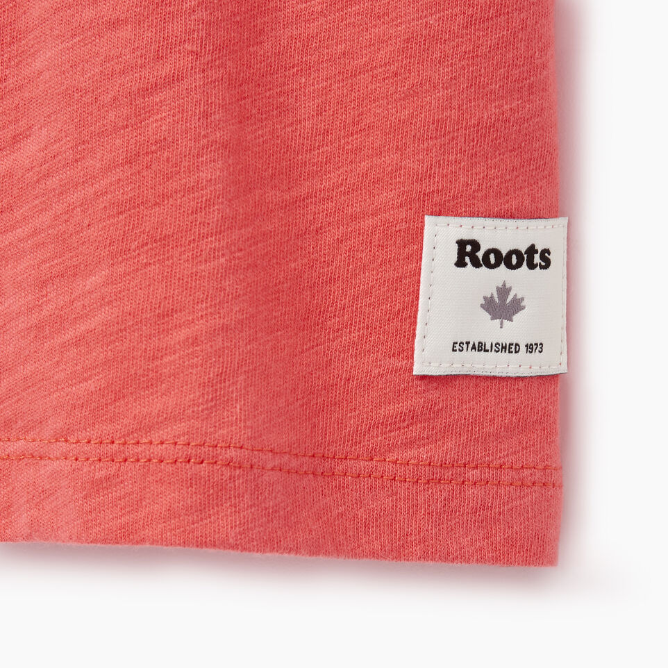 Roots-Women Clothing-Cooper Beaver Muscle Tank-Spiced Coral-C
