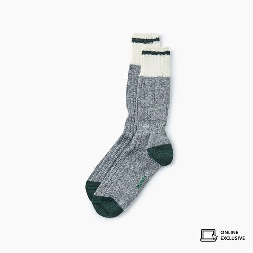 Roots-Gifts Lounge-Mens Roots Pop Cabin Sock 3 Pack-Park Green-A