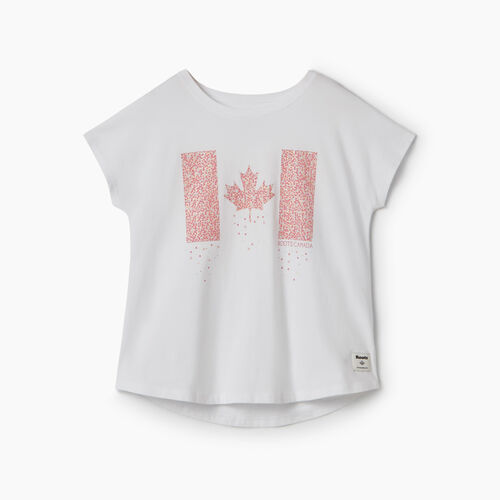 Roots-Kids New Arrivals-Girls Confetti Canada T-shirt-Crisp White-A