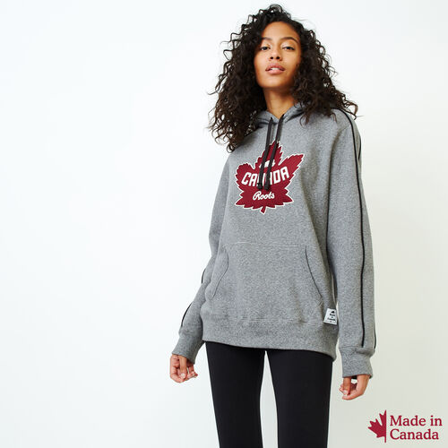 Roots-Women Sweatshirts & Hoodies-Womens Canada Kanga Hoody-Salt & Pepper-A