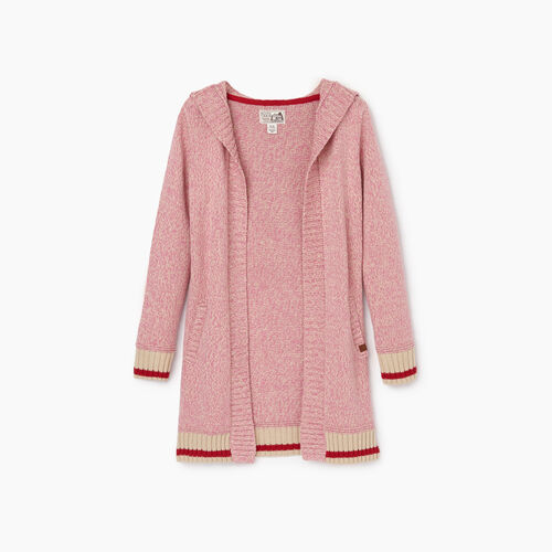 Roots-Kids Tops-Girls Roots Cabin Cardigan-Cashmere Rose-A