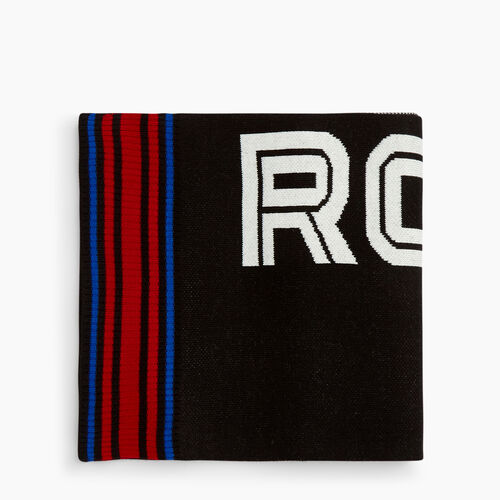 Roots-Clearance Last Chance-Thunderhill Scarf-Black-A