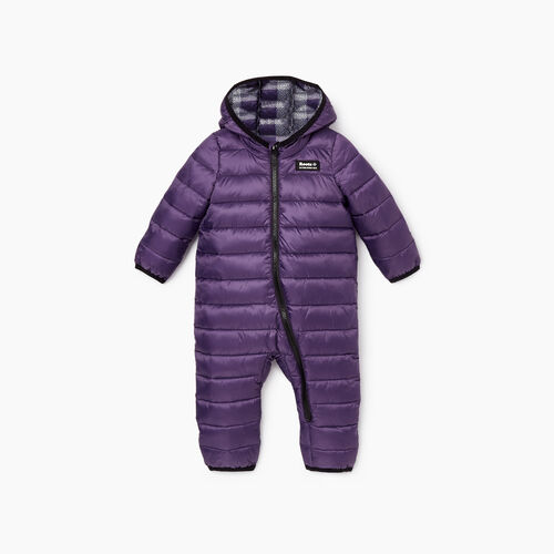 Roots-Kids Rompers & Onesies-Baby Roots Puffer Suit-Loganberry-A