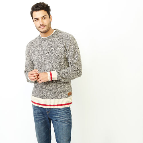 Roots-Men Our Favourite New Arrivals-Roots Cotton Cabin Crew Sweater-Speckle-A