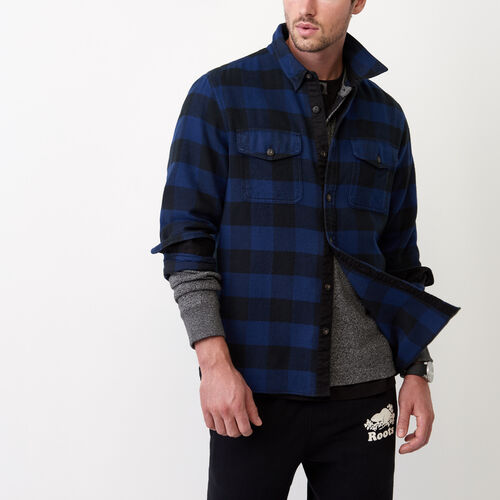 Roots-Winter Sale Tops-Park Plaid Shirt-Active Blue-A