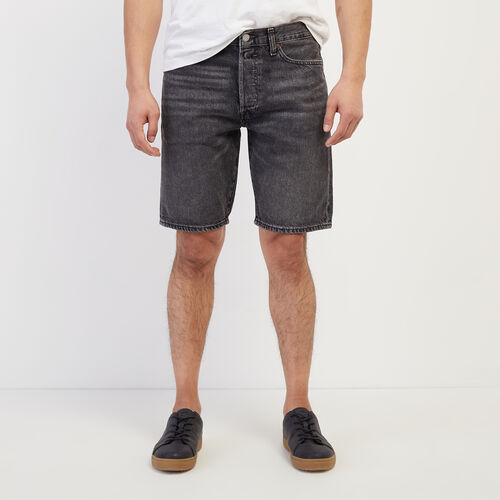 Roots-Men New Arrivals-Levi's 501 Hemmed Short-Dark Denim-A