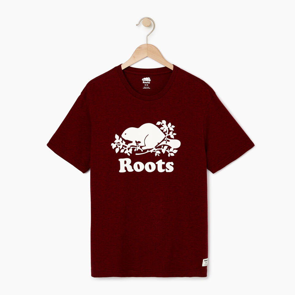 Roots-Men Our Favourite New Arrivals-Mens Cooper Beaver T-shirt-Sundried Tomato Ppr-A