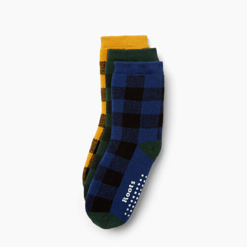Roots-New For October Kids-Toddler Plaid Sock 3 Pack-Blue Depths-A
