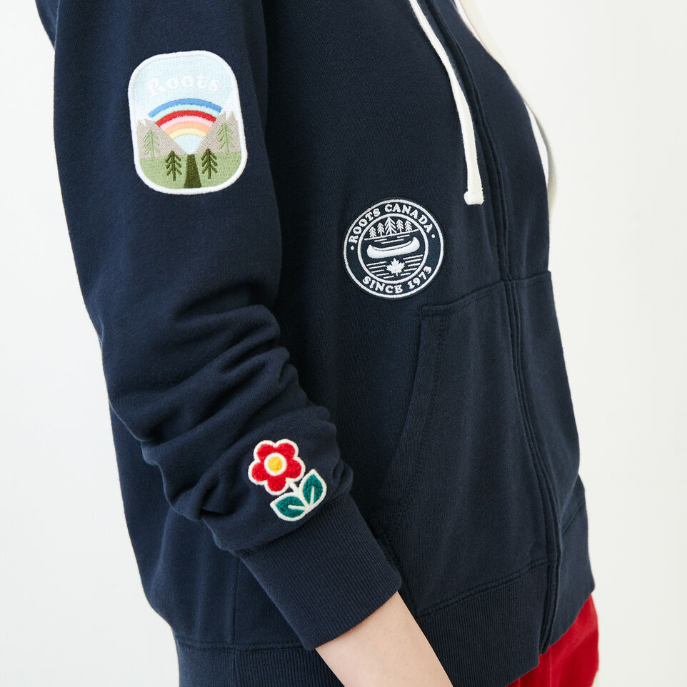Roots-Women Our Favourite New Arrivals-Patches Full Zip Hoody-Navy Blazer-E