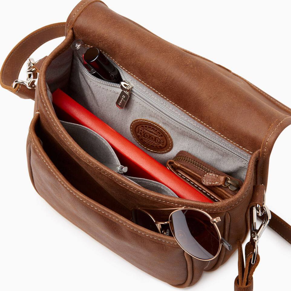 Roots-Women Leather-English Saddle Woven-Natural-D