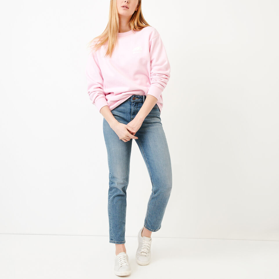 Roots-Women Our Favourite New Arrivals-Boyfriend Crew Sweatshirt-Pink Mist-B