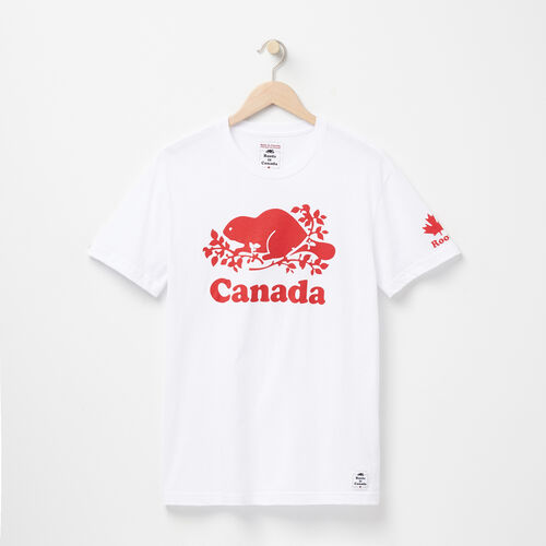 Roots-Men Canada Collection By Roots™-Mens Cooper Canada T-shirt-White-A