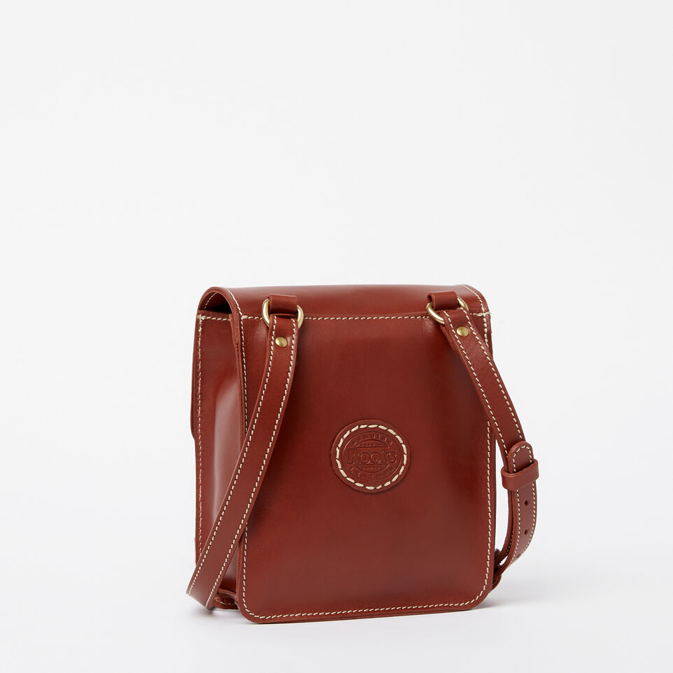 Roots-Leather  Handcrafted By Us Handbags-Money Bag Heritage-Oak-C