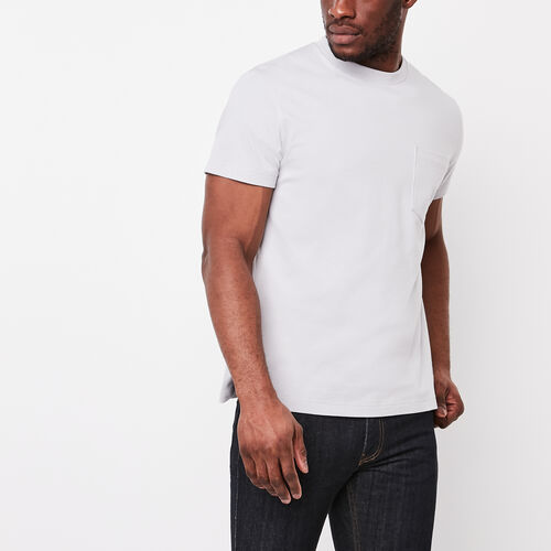 Roots-Winter Sale Tops-7 Oz Jersey Pocket T-shirt-Snowy Ice-A
