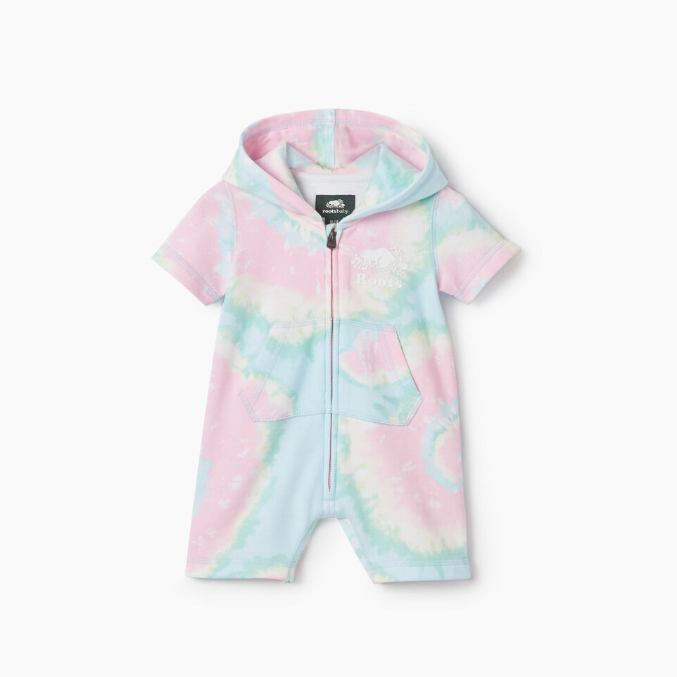 Roots-Kids New Arrivals-Baby Cooper Beaver Kanga Romper-Multi-A