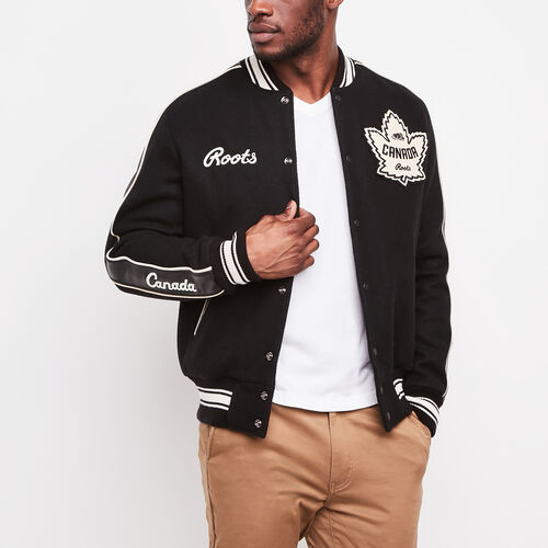 Roots-Men Collections-Roots Heritage Award Jacket-Black-A