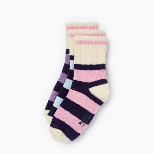 Roots-Kids Categories-Kids Rugby Ankle Sock 3 Pack-Pastel Lavender-A