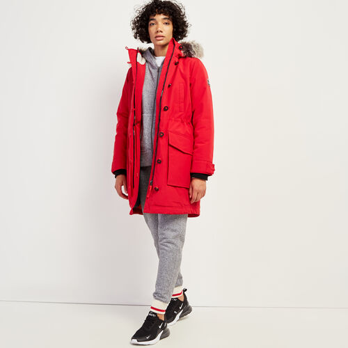 Roots-Women Outerwear-Portage Heritage Parka-Cabin Red-A