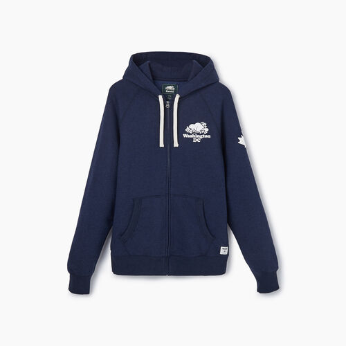 Roots-Sale Sweats-Washington Full Zip Hoody - Mens-Blue Iris Pepper-A