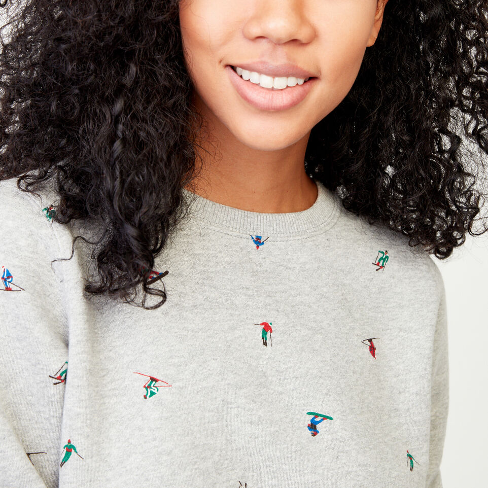 Roots-Women Our Favourite New Arrivals-Skier Crew Sweatshirt-Grey Mix-E
