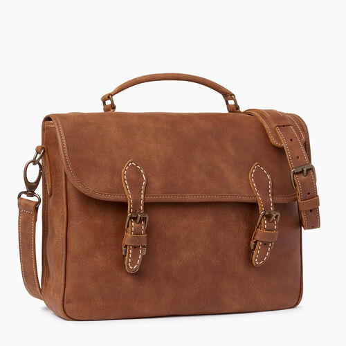 Roots-Leather  Handcrafted By Us Collections-Small School Bag-Natural-A