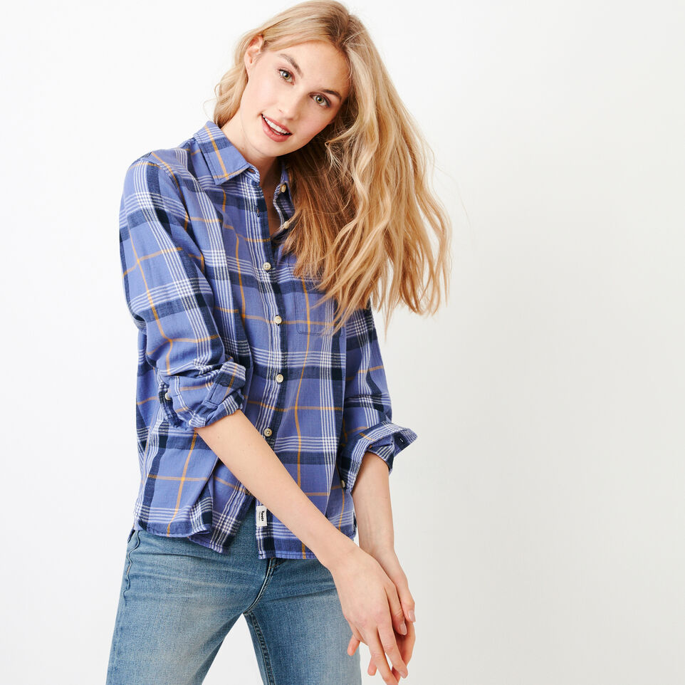 Roots-Women Our Favourite New Arrivals-All Seasons Relaxed Shirt-Violet Storm-A