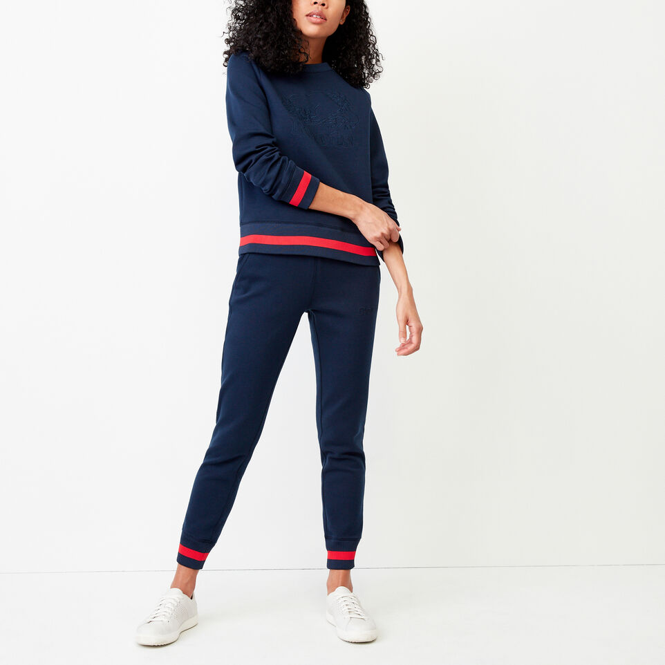 Roots-Women Our Favourite New Arrivals-Mahone Crew Sweatshirt-Navy Blazer-B