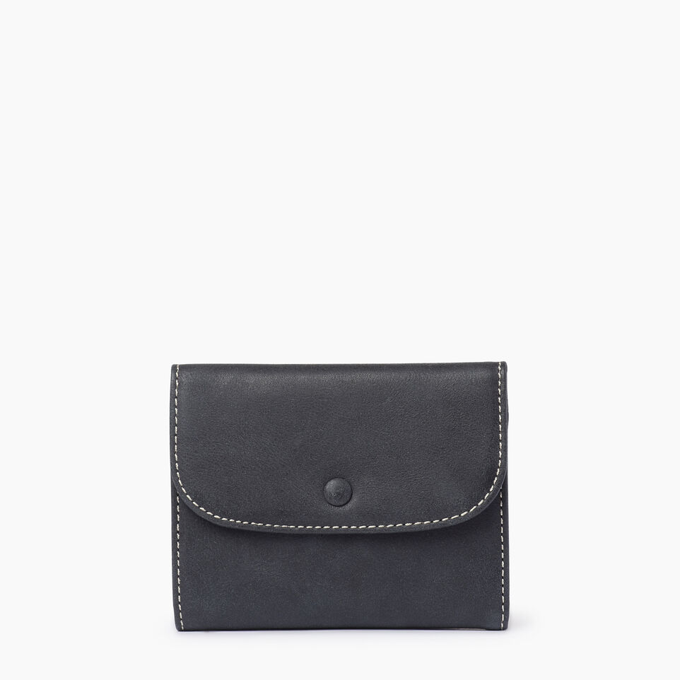 Roots-Leather  Handcrafted By Us Our Favourite New Arrivals-Riverdale Wallet-Jet Black-A