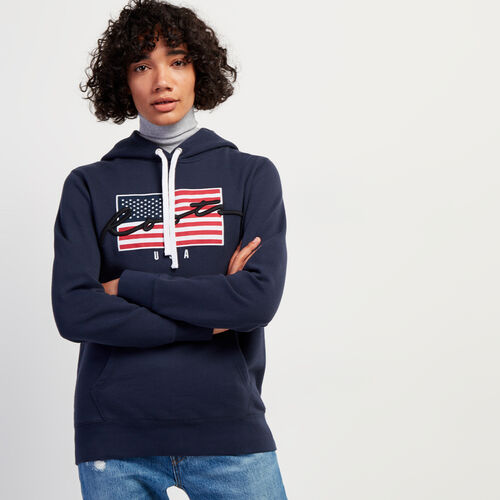 Roots-Gifts Holiday X Arielle & Leah-Script USA Hoody-Navy Blazer-A
