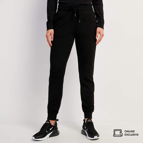 Roots-Sweats Sweatpants-Pile Lined Sweatpants-Black-A