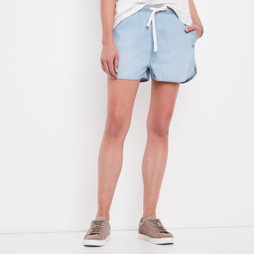 Roots-Women Shorts & Skirts-Chambray Mackenna Short-Chambray Blue-A