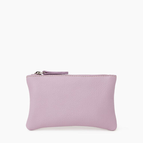 Roots-Leather Leather Accessories-Medium Zip Pouch Cervino-Mauve-A