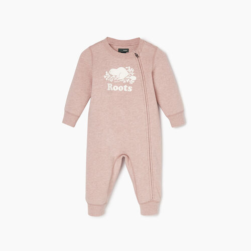 Roots-Kids Baby Girl-Baby Original Cooper Beaver Romper-Deauville Mauve Mix-A