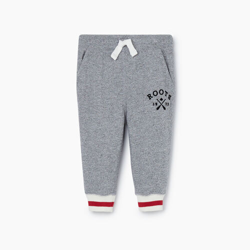 Roots-Kids New Arrivals-Baby Cabin Park Slim Sweatpant-Light Salt & Pepper-A