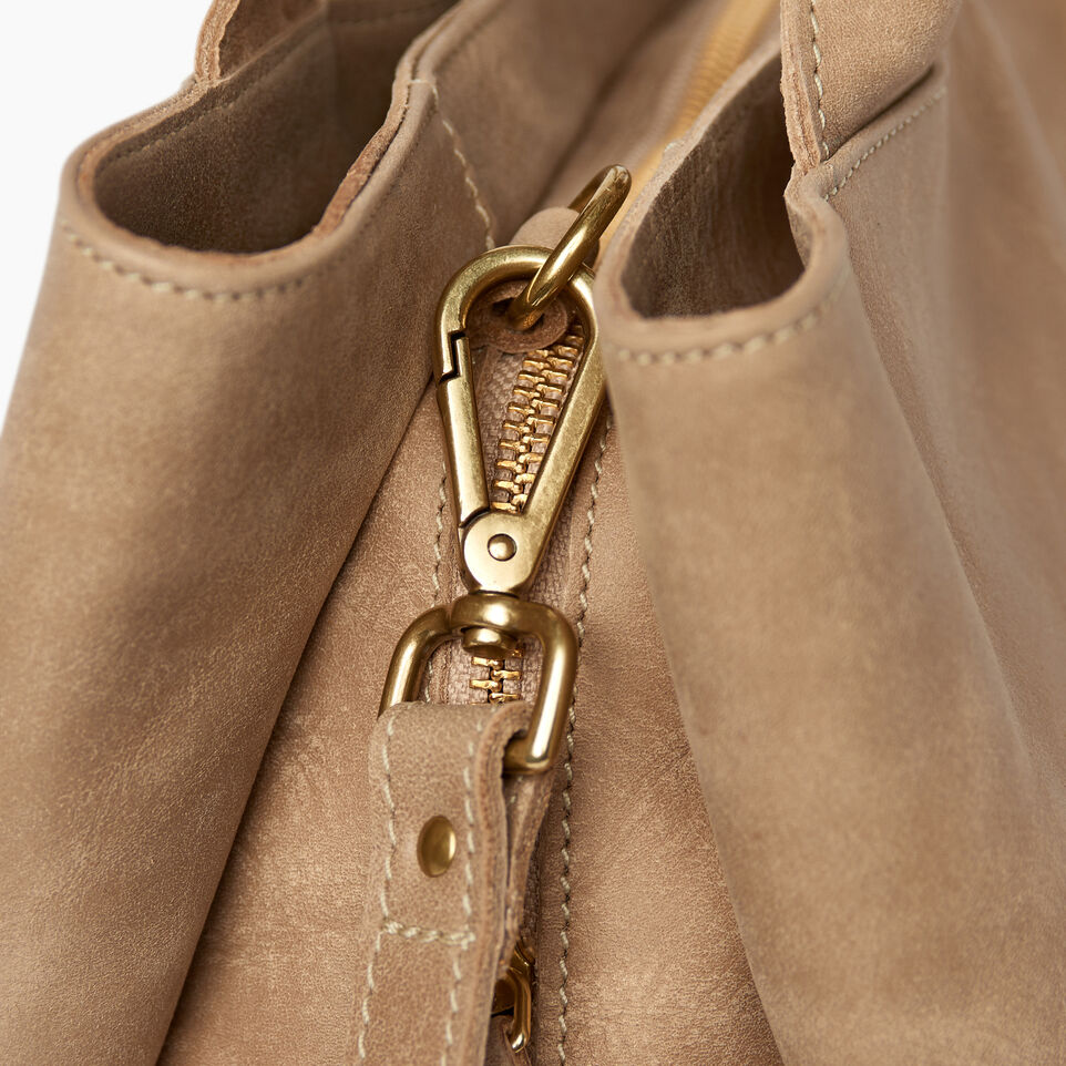 Roots-Leather Categories-Mont Royal Bag-Sand-E