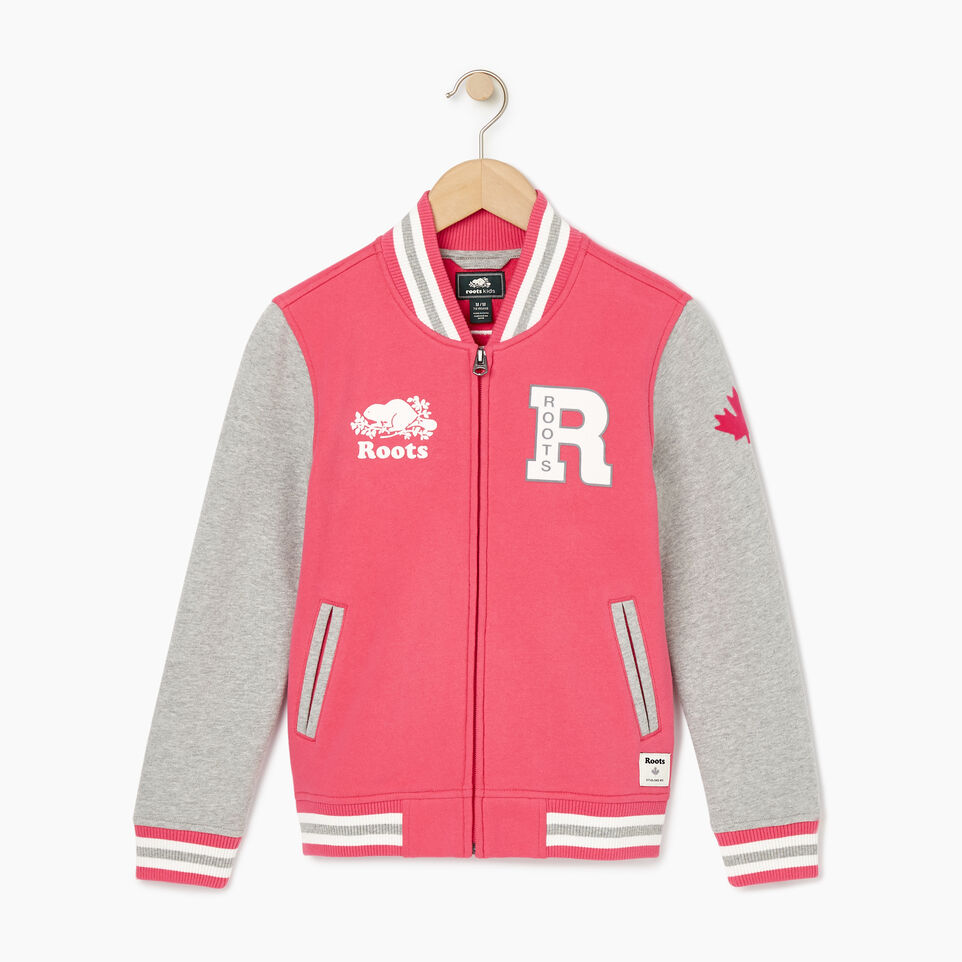 Roots-Kids Our Favourite New Arrivals-Girls 2.0 Awards Jacket-Pink Flambé-B